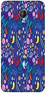 Snoogg Bird Floral Patterns Designer Protective Back Case Cover For Micromax Canvas Spark Q380