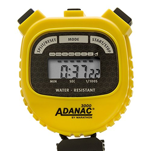 marathon-adanac-3000-digital-stopwatch-timer-with-extra-large-display-and-buttons-water-resistant-ye