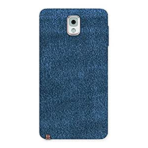 Enticing Royal Blue Cloth Print Back Case Cover for Galaxy Note 3