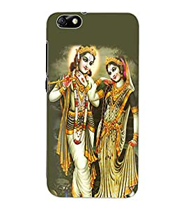 ColourCraft Lord Radha Krishan Design Back Case Cover for HUAWEI HONOR 4X