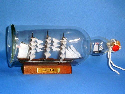 Cutty Sark Model Ship in Glass Bottle 11