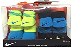 Nike Newborn Baby Boy\'s Booties, 4 Pair Gift Set, Size 0-6 Months