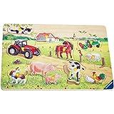 Ravensburger 03636 Fattoria allegra- Puzzle in legno da 10 pezzi