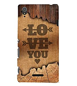 Love You Design 3D Hard Polycarbonate Designer Back Case Cover for Sony Xperia T3