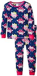 Gerber Little Girls\' 2 Piece Thermal Pajamas, Owl, 3T
