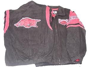 Arkansas Razorbacks NCAA G-III Leather Suede Jacket, Large by Unknown