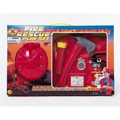 Fire RESCUE Play SET Childrens DRESS Up HALLOWEEN Costume