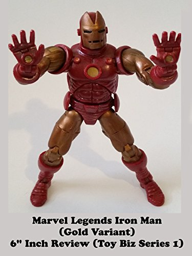 Marvel Legends Gold Variant IRON MAN Review Toy Biz series 1
