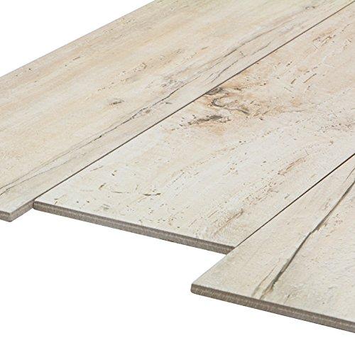 ... cm Feinsteinzeug Fliesen mit Holzoptik und dezenter Struktur (1 m²