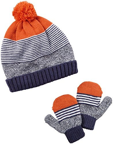 Carter's Baby Boys Winter Hat-glove Sets D08g049, Multi, 0-9M