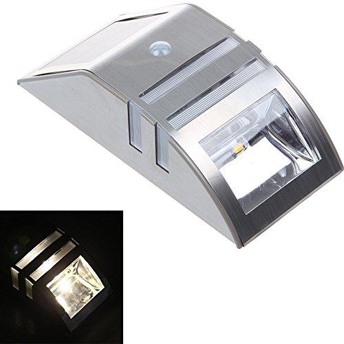 Minidiva Accent luce alimentata solare senza fili del sensore di movimento della luce attivato riparo della parete di LED Path (argento)