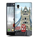 Head Case London Doodle Cities Series 2 Back Case For Lg Optimus L9 P760 P768