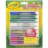 Crayola Washable Glitter Glue Pens .35 Ounce 9/Pkg-Bold