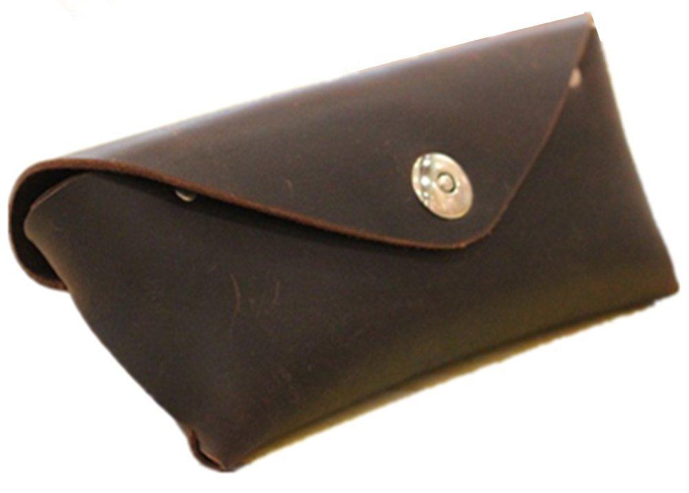YAAGLE Genuine Leather Glasses Bag Case Soft Vintage Handmade 0