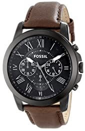 FOSSIL Watch Grant Male Stainless steel, IP Black Chronograph - fs4885