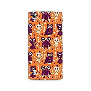 Ebby Owls and Skull Premium Printed Case For Vivo Y15