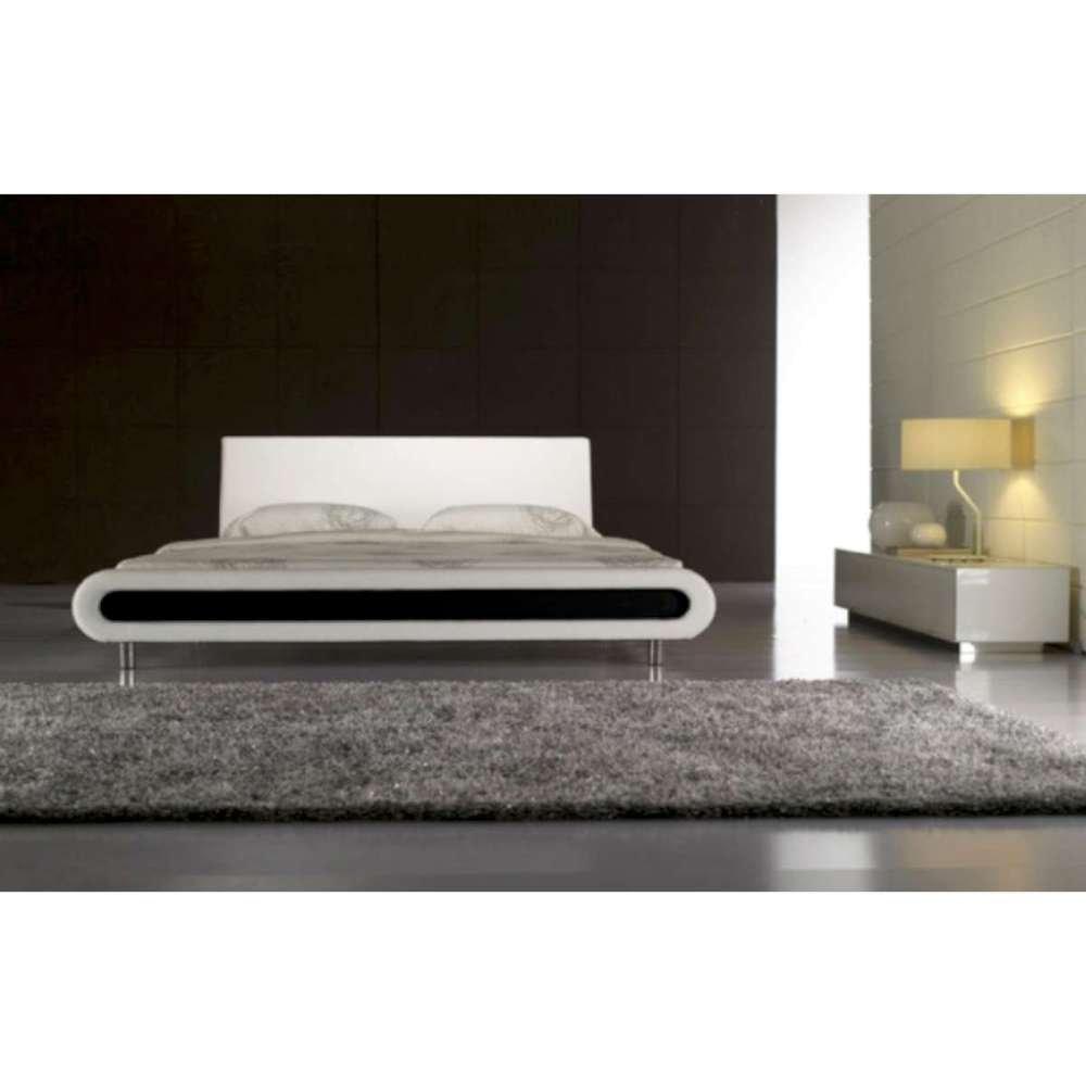 JUSThome Rondo Light Weiss Polsterbett Ekoleder Größe 140×200 cm günstig kaufen