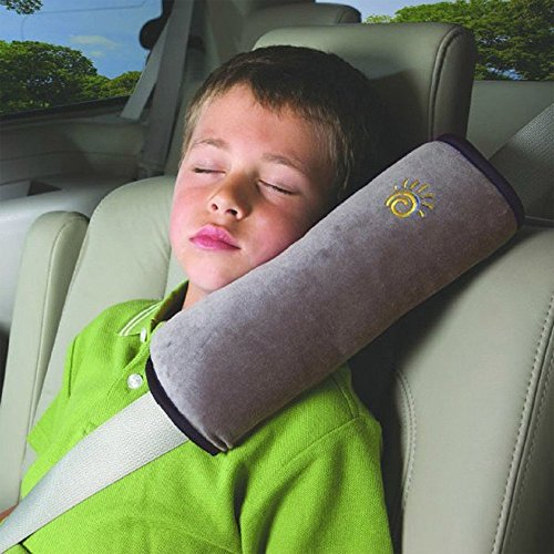 AutoLover Children Car Seat Belts Shoulder Protection Back Cushion Soft Neck Sleep Pillow Vehicle Headrest Harness Pad (GRAY) (Seat Belt Harness Pads compare prices)