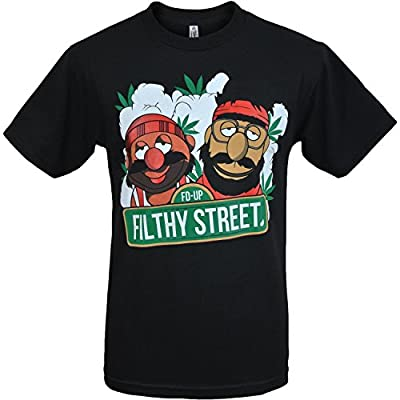 Filthy Street Cheech and Chong Muppets Mens T Shirt