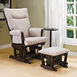 Reagan Locking Glider Rocker with Ottoman and Side Table