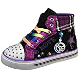 Air Balance Girls Black/Purple Colorful Cap Toe Sneakers Thumbnail Image