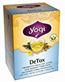 Yogi DeTox, Herbal Tea Supplement, 16-Count Tea Bags (Pack of 6)