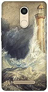 The Racoon Lean Bell Rock Lighthouse hard plastic printed back case / cover for Xiaomi Redmi Note 3