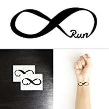 Forever Run for Runners Temporary Tattoo (Set of 2)
