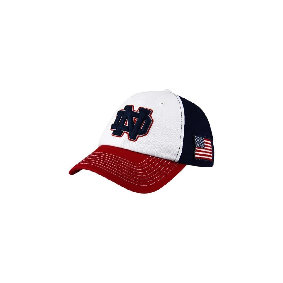 Top Of The World Notre Dame Fighting Irish Red White Blue Patriot Adjustable Hat