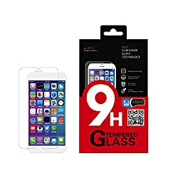 MTT® SGT Apple iPhone 6 PLUS SLIM 0.1 MM NANO TECHNOLOGY GERMAN SCHOTT GLASS Premium Tempered Glass Screen Protector Guard - Protect Your Screen from Scratches and Drops - Maximize Your Resale Value - 99.99% Clarity and Touchscreen Accuracy (FIRST 0.1MM NANO GLASS TECHNOLOGY)
