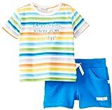 Kanz Baby - Jungen (0-24 Monate) Bekleidungsset T-Shirt 1/4 Arm + Bermudas 1436755, Gestreift, Gr. 80, Mehrfarbig (allover|multicolored 0003)