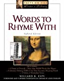 Words to Rhyme with: For Poets and Songwriters (The Facts on File Writer's Library) (0816043132) by Espy, Willard R.