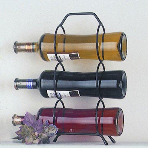 J&J Wire Triple Wine Bottle Holder front-939431