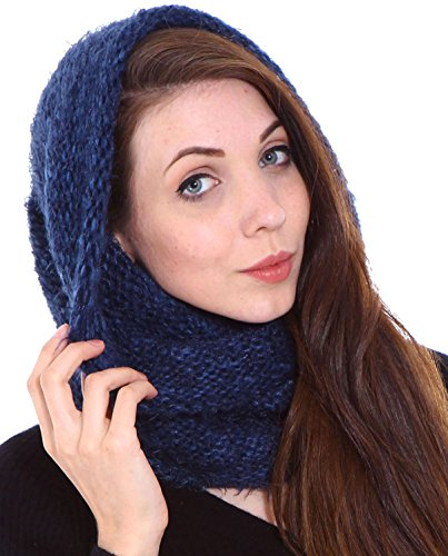 Women's Winter Knit Neck Warmers Fuzzy Cowl Snood Infinity Scarf, Cap/Scarf 6 (Cowl Scarf compare prices)