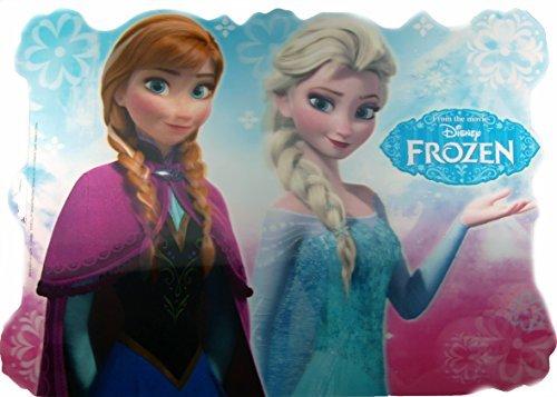 Disney - Tovaglietta all'americana con ologramma, motivo: Anna ed Elsa di Frozen