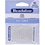 Beadalon Chain 2.3mm Small Silver Plated, 2-Meters