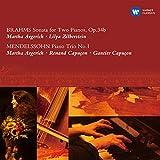 ブラームス:2台のピアノのためのソナタ、メンデルスゾーン:ピアノ三重奏曲第1