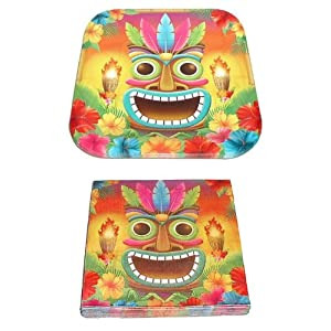 Click to buy Tiki ~ Polynesian Luau Party Pack ~ 14 Plates & 20 Napkinsfrom Amazon!