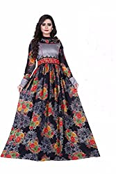 B4Best Creation New Designer Multi color Silk Party Wear Gown