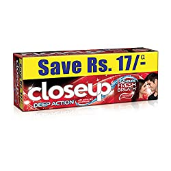 Closeup Deep Action Red Hot Gel Toothpaste Value Saver Pack 2X150g
