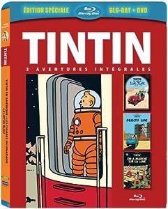 Tintin - 3 aventures - Vol. 5 : Objectif Lune + On a marché sur la Lune + Tintin au pays de l'or noir [Combo Blu-ray + DVD]