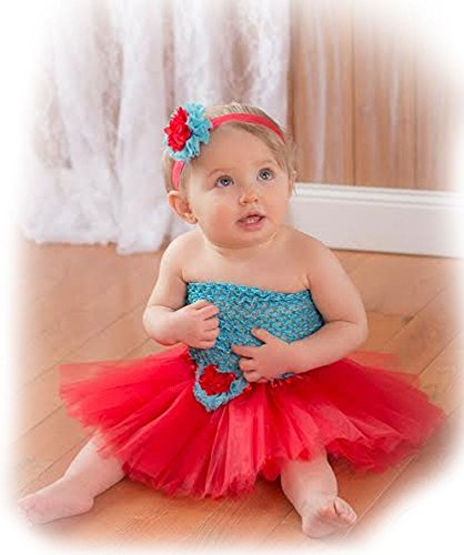 Wholesale Princess Red and Turquoise Tutu Gift Set