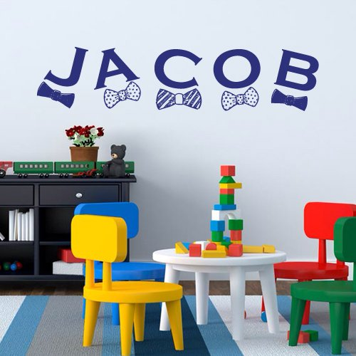 Wall Decal Art Decor Decals Sticker Vinyl Custom Baby Name Letter Gift Kids Children Nursery Jacob Personalized (M1148) front-474981