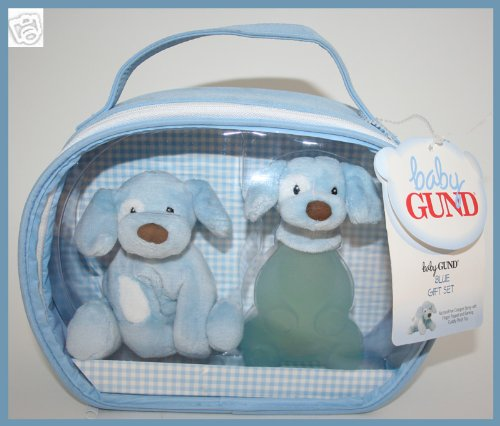 Baby Gund Blue Gift Set Cologne with Finger Puppet and Plush Toy