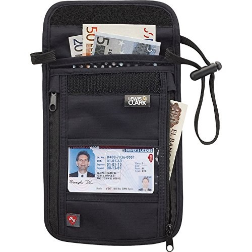 Lewis-N-Clark-Rfid-Neck-Stash-Hidden-security-Wallet