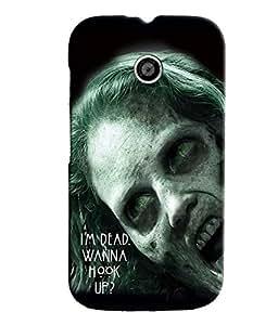 Fuson Scary Girl Back Case Cover for MOTOROLA MOTO E - D3796