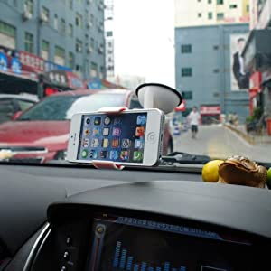 White Windshield Air Suction Car Holder Kit Cradle For iPhone 5/4/4S GPS Camera Mobile Phone from NEEWER