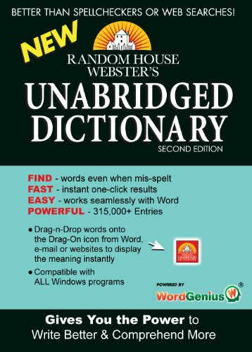 Random House Webster'S Unabridged Dictionary Wordgenius - Secure Downloadable Pc App [Download]