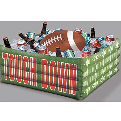"""Football Fan Birthday Party Inflatable Plastic Cooler , 14"""" x 29"""""""