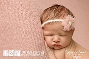 Old Rose Mauve Chiffon Newborn Headband Photo Prop or Hair Accessory - Perfect for Newborn, Infant, Baby Photo Sessions